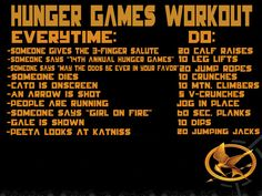 Because this is another Hunger Games workout, but I'm pretty sure it's for the movie, also.