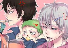 Furuichi Takayuki, Oga Tatsumi, Baby Bel Beelzebub Oga, Beelzebub Anime, Vocaloid Cosplay, Funny Drawings, All Things Cute, Anime Ships, Bungou Stray Dogs, Fujoshi, Anime Comics