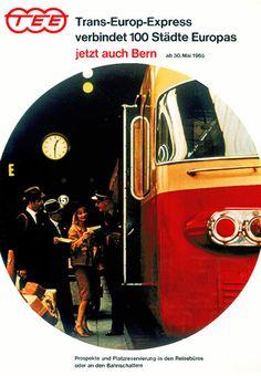 TEE poster 110 cities/Bern, c. 1965 | Unknown designer, SBB-CFF-FFS