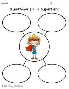 superhero kindergarten worksheet | Sentence Superhero Craft - Swimming into Second - TeachersPayTeachers ...