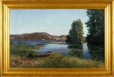 Konrad Simonsson (1843-1916): Motiv av Tullingesjön, 1898