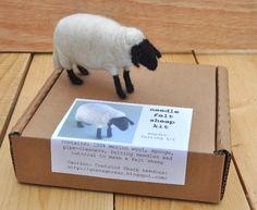 Needle Felt Sheep Kit - DIY Craft Kit. €15.00, via Etsy. Ok, not quite knitting, but fabulous for a knitter.