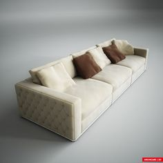 Fendi Sofa Sofa Bed Design, Living Room Sofa Design, My Living Room, Fendi, Sofa Furniture, Luxury Furniture, Ottoman Decor, Comfortable Couch, Bedroom Sofa
