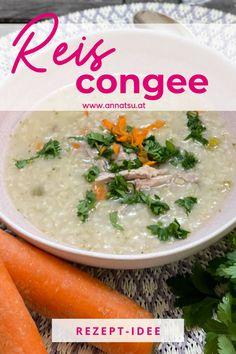 Heute hab ich ein wundervolles Reiscongee für dich. Congee Rezepte sind super einfach und können vielseitig sind. In der TCM stärkt das Congee deine Mitte und nährt dich auf allen Ebenen. #reiscongee #tcm #tcmrezepte #tcmernährungrezepte #congee #congeerezepte Foodblogger, Cheeseburger Chowder, Tricks, Cantaloupe, Soup, Fruit, Fitness, Recipes With Rice, Healthy Life