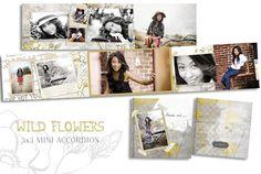 Wild Flower 3x3 Mini Accordion Album