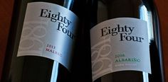 "Our ""sister winery,"" Eighty Four Wines, has just released its second vintages of of Albarino and Malbec! These wines are produced by Doug Shafer and Elias Fernandez in a wine project all their own. Check them out at EightyFourWines.com!"