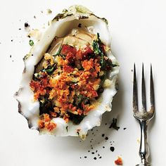 Roasted Oysters with Pancetta and Breadcrumbs, #Oysters, #Pancetta, #Roasted