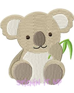 4X4 Baby Koala Machine Embroidery Design Multiple by StichinItUp, $2.00