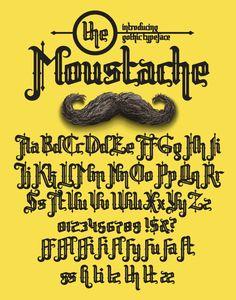 #Moustache - Gothic #Decorative Download here:   https://graphicriver.net/item/moustache/20133048?ref=alena994