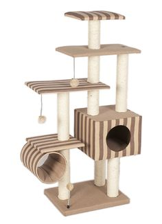 purrshire super deluxe cat tower activity centre - modern cat tree at pet planet h127cm. Like the stripes! #cats #CatTree