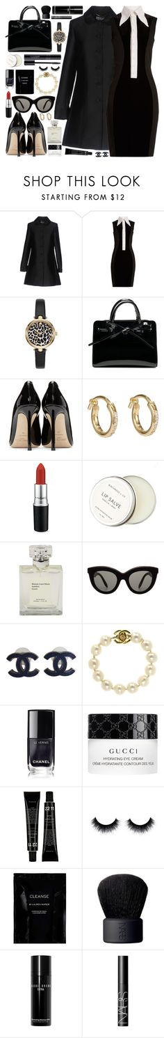 """M I N I / /"" by douxlaur ❤ liked on Polyvore featuring Blugirl, Givenchy, Jimmy Choo, Ileana Makri, MAC Cosmetics, Birchrose + Co., Victoria Beckham, Chanel, Barneys New York and Gucci"