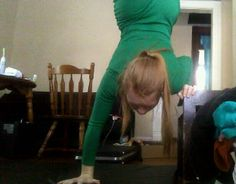 Trying a new acro chair balance
