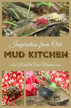 Inspiration from Our Mud Kitchen. A mud kitchen is a fun and simple way to…