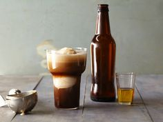 Beer Float Your Boat Cocktail - An ice cold glass of chocolate stout,a scoop of ice cream and a dash of butterscotch schnapps will definitely get you in the St. Patrick's Day mood.