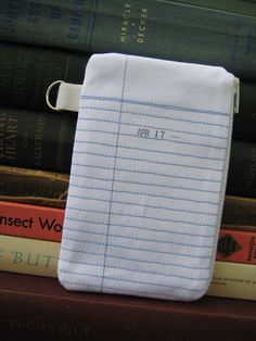 Library card pouch. Perfect for keeping your change for your library fines.