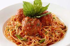Spaghetti and Meatballs Cheesecake Factory Recipes, Spaghetti And Meatballs, Meatball Recipes, Greek Recipes, Dinner Recipes, Menu, Cooking Recipes, Pasta, Ethnic Recipes