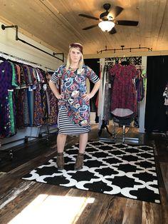Lularoe Carly and a Julia Dress- My favorite style! A Julia dress under a Carly Dress!
