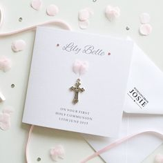 Personalised Holy Communion Card por WithlovefromJosie en Etsy