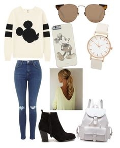 """Mickey Mouse"" by miazinhaa on Polyvore featuring beauty, Uniqlo, Nly Shoes and Linda Farrow"
