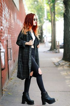 Top, jeans and duster – UNIF Shoes – The Oz Sunglasses- Ray Ban