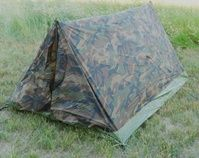 The Texsport Camo Tent is a versatile and affordable shelter option for a Bug Out Bag. It has a window for ventilation and a roll up front door with inner zippered mesh screen to keep the bugs out.