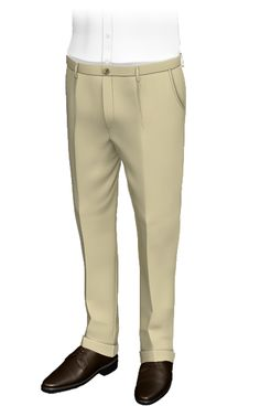 Design custom tailored Pants for men and get 2 weeks shipping. Tailored Trousers, Slacks, Khakis, Cuffed Pants, Khaki Pants, White Linen Shirt, British Khaki, Slim Fit Chinos, Cotton Pants