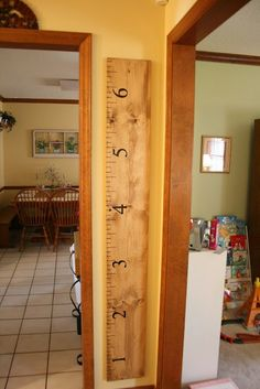 GREAT idea - if you move or repaint, you won't lose all those precious measurements! :)