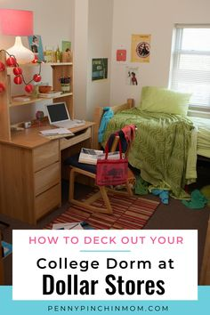 Looking for way to make your new college residence homey when your bank account has already taken a beating? Don't worry — you can deck out your college dorm room at the dollar store! College Costs, College Planning, College Dorm Rooms, Living On A Budget, Frugal Living Tips, Saving Ideas, Saving Tips, Create A Budget, Bank Account