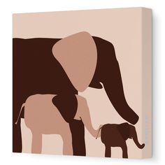Found it at Wayfair - Graphic Elephant Artwork