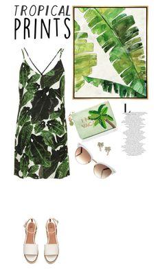 """Senza titolo #5048"" by waikiki24 on Polyvore featuring moda, Barclay Butera, Topshop, Kate Spade, Gucci, tropicalprints e hottropics"