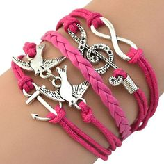 Women Retro Infinity Skull Music Pigeon Faux Leather Charm Bracelet Bangle Cuff 754I - http://jewelryfromchina.com/?product=women-retro-infinity-skull-music-pigeon-faux-leather-charm-bracelet-bangle-cuff-754i