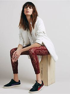 Free People Lazy Lace Legging, $48.00