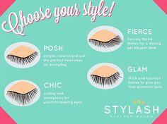 Eyelash types