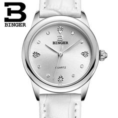 27.50$  Watch more here - http://aiib5.worlditems.win/all/product.php?id=32546070488 - Switzerland Binger watches women luxury quartz waterproof 5 color available genuine leather strap Wristwatches BG9006