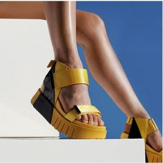 Walking on sunshine!   Modell: Delta Run Yellow Mix Nylons, United Nude, Walk On, Cow Leather, Birkenstock, Beige, Running, Sandals, Yellow