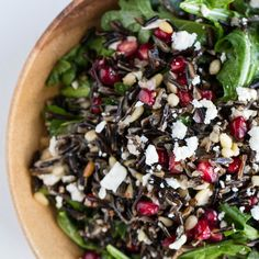 Pomegranate Wild Rice Salad