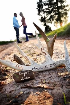 A.S.W. Engagements Save the Date Hunting Themed ©Amber S. Wallace Photography