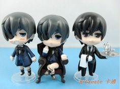 Free shipping 3pcs pvc pop Black Butler Ciel Phantomhive and Sebastian Michaelis action figure toy tall 9cm set.cute figure toy-in Action & Toy Figures from Toys & Hobbies on Aliexpress.com | Alibaba Group