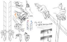 equipo de maniobras 3D espadas