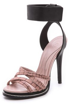 6df2aa4d82f McQ - Pink Ankle Strap Wedge Sandals - Lyst