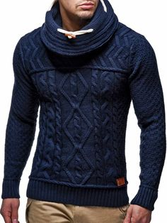 online shopping for Men's Autumn Winter Knitted Pullover Long Sleeve Warm Jumper Drape Choker Sweater Blouse Tops from top store. See new offer for Men's Autumn Winter Knitted Pullover Long Sleeve Warm Jumper Drape Choker Sweater Blouse Tops Look Fashion, Winter Fashion, Mens Fashion, Fashion Outfits, Mens Turtleneck, Men Sweater, Jumper, Leif Nelson, Mode Cool