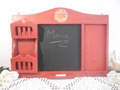 Rustic Red Wall Organizer Kitchen Office by ElegantSeashore, $39.99