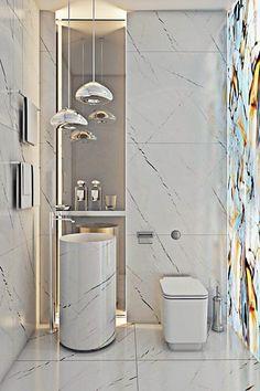 Como inovar em um banheiro ou lavabo ? Difícil, né ? Pois selecionei para vc 12 banheiros/lavabos que conseguem esta proeza! Aproveite as ideias, adapte ao seu espaço, guarde para a futura reforma ou a próxima casa, quem sabe?