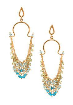 Brazilian Apatite Earrings by Azaara