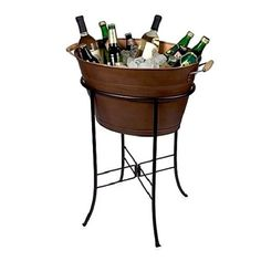 Party Oval Tub Stand Cooler Outdoor Bucket Wine Beer Drink Bar Alcohol Drink BBQ #PartyOvalTub