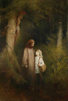 Karl Wilhelm Diefenbach ~ German Symbolist and Art Nouveau painter Amazing Paintings, Classic Paintings, Woman Painting, Painting & Drawing, Moonlight Painting, Kunst Online, 10 Picture, Victorian Art, Adam And Eve