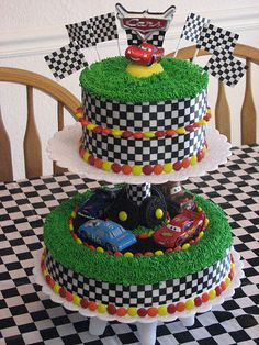 Image detail for disney cars cake by mballen60 the birthday boy