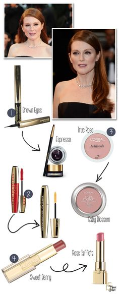 Get the Look: Julianne Moore at Cannes, The Great Gatsby Premiere via @15 Minute Beauty