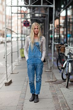 love me some overalls. Copenhagen.
