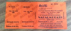 Napalm, Morbid Angel, Carcass for 5.50 in 1989. I was a month and 5 days old, could have fuckin made it. I blame the internet for not being around yet.